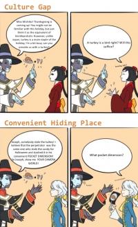 Culture Gap and Convenient Hiding Place
